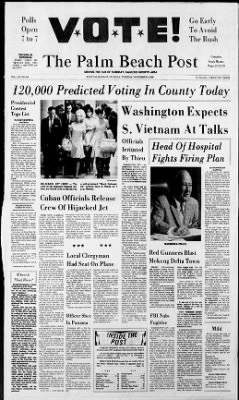 The Palm Beach Post from West Palm Beach, Florida on November 5, 1968 · Page 1