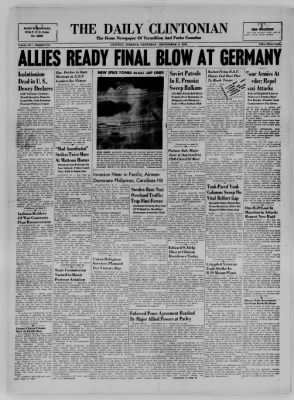 The Daily Clintonian from Clinton, Indiana on September 9, 1944 · Page 1