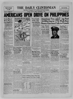 The Daily Clintonian from Clinton, Indiana on September 15, 1944 · Page 1