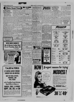 The Daily Clintonian from Clinton, Indiana on September 26, 1944 · Page 3