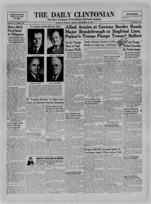 The Daily Clintonian from Clinton, Indiana on September 29, 1944 · Page 1