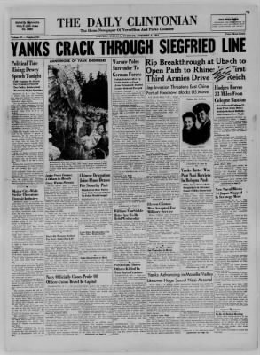 The Daily Clintonian from Clinton, Indiana on October 3, 1944 · Page 1