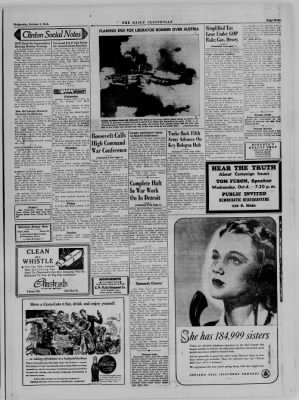 The Daily Clintonian from Clinton, Indiana on October 4, 1944 · Page 3