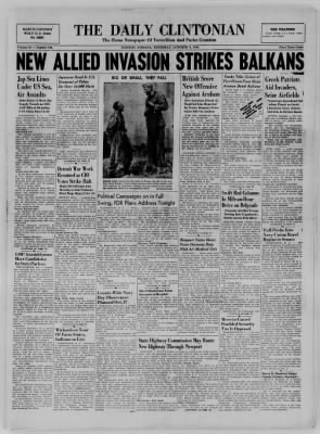The Daily Clintonian from Clinton, Indiana on October 5, 1944 · Page 1