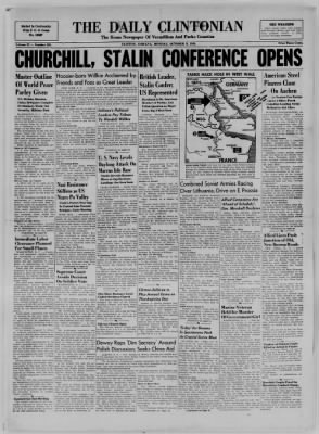 The Daily Clintonian from Clinton, Indiana on October 9, 1944 · Page 1