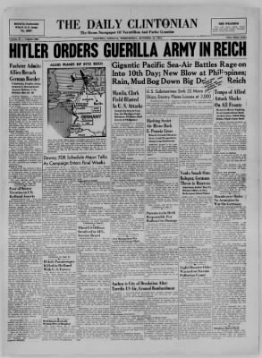 The Daily Clintonian from Clinton, Indiana on October 18, 1944 · Page 1