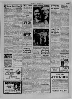 The Daily Clintonian from Clinton, Indiana on October 23, 1944 · Page 3