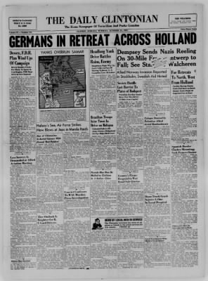 The Daily Clintonian from Clinton, Indiana on October 31, 1944 · Page 1