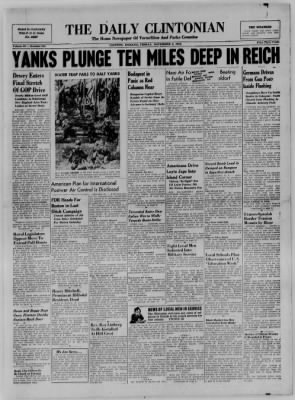 The Daily Clintonian from Clinton, Indiana on November 3, 1944 · Page 1