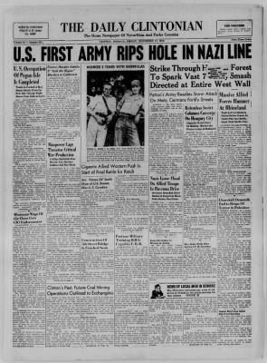 The Daily Clintonian from Clinton, Indiana on November 17, 1944 · Page 1
