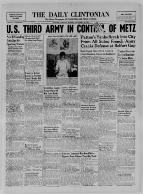 The Daily Clintonian from Clinton, Indiana on November 20, 1944 · Page 1