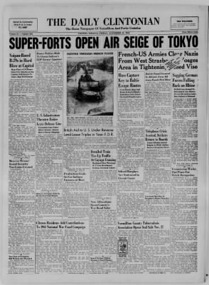 The Daily Clintonian from Clinton, Indiana on November 24, 1944 · Page 1