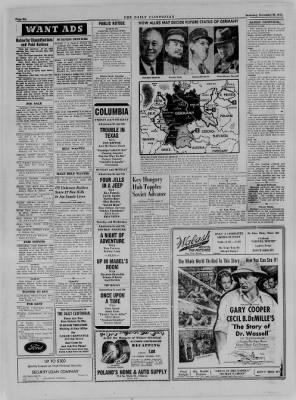 The Daily Clintonian from Clinton, Indiana on November 25, 1944 · Page 6