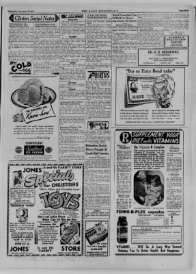 The Daily Clintonian from Clinton, Indiana on November 29, 1944 · Page 3