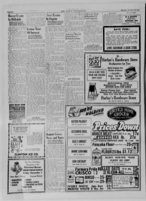 The Daily Clintonian from Clinton, Indiana on November 30, 1944 · Page 2