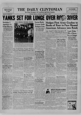 The Daily Clintonian from Clinton, Indiana on December 12, 1944 · Page 1
