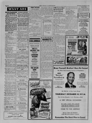 The Daily Clintonian from Clinton, Indiana on December 13, 1944 · Page 6