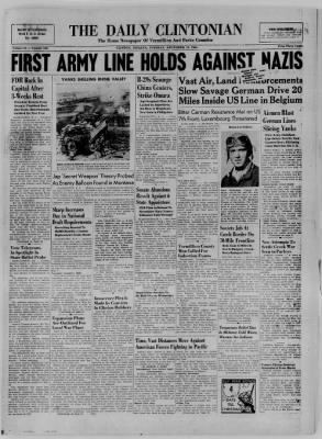 The Daily Clintonian from Clinton, Indiana on December 19, 1944 · Page 1