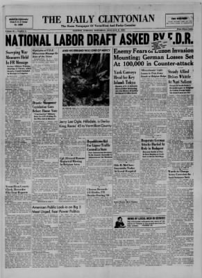 The Daily Clintonian from Clinton, Indiana on January 6, 1945 · Page 1