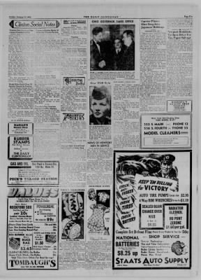The Daily Clintonian from Clinton, Indiana on January 12, 1945 · Page 5