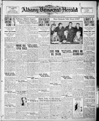 Albany Democrat-Herald from Albany, Oregon on March 26, 1936 · Page 1