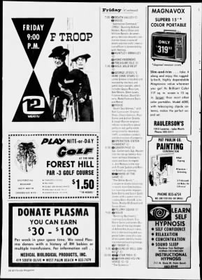 The Palm Beach Post from West Palm Beach, Florida on November 24, 1968 · Page 126