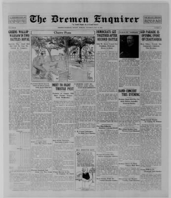 The Bremen Enquirer from Bremen, Indiana on July 10, 1924 · Page 1
