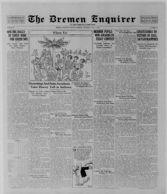 The Bremen Enquirer from Bremen, Indiana on July 17, 1924 · Page 1