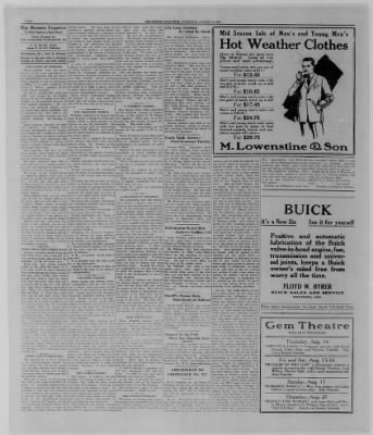 The Bremen Enquirer from Bremen, Indiana on August 14, 1924 · Page 4