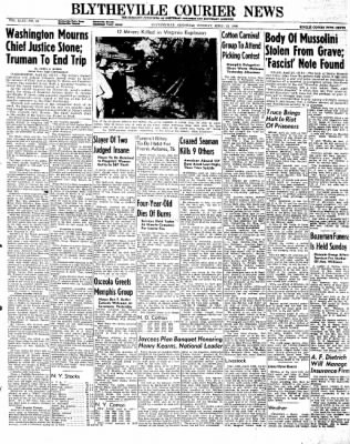 The Courier News from Blytheville, Arkansas on April 23, 1946 · Page 1