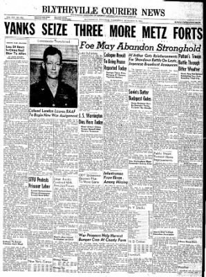 The Courier News from Blytheville, Arkansas on November 15, 1944 · Page 1