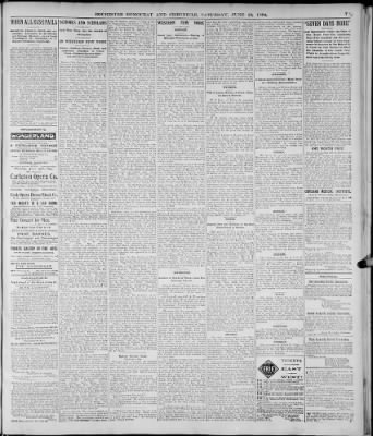 Democrat And Chronicle From Rochester New York On June 23 1894