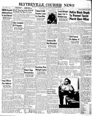The Courier News from Blytheville, Arkansas on April 24, 1946 · Page 1