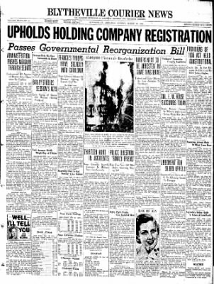 The Courier News from Blytheville, Arkansas on March 28, 1938 · Page 1
