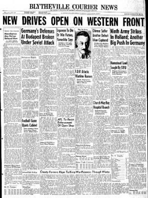 The Courier News from Blytheville, Arkansas on November 16, 1944 · Page 1