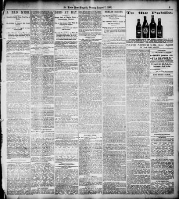 Louis Post-Dispatch from St. Louis, Missouri on August 7, 1892 · Page 5