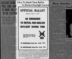 Missouri votes on daylight saving time, 1947