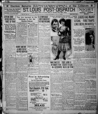 St. Louis Post-Dispatch from ,  on November 4, 1912 · Page 1