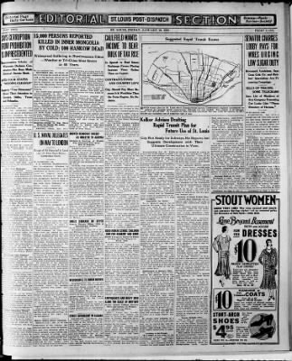 St  Louis Post-Dispatch from St  Louis, Missouri on January 10, 1930
