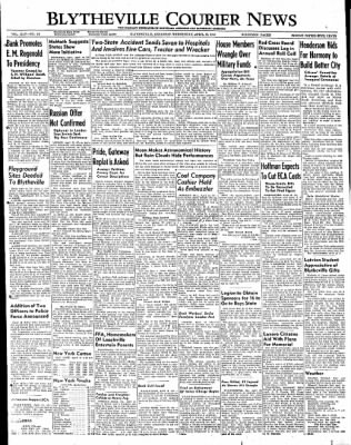 The Courier News from Blytheville, Arkansas on April 13, 1949 · Page 1