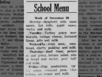 Clip of the Day: School Lunch in 1964