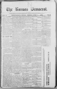 Sample The Kansas Democrat front page