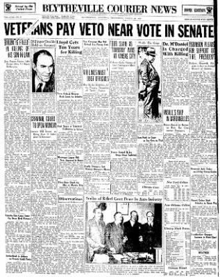 The Courier News from Blytheville, Arkansas on March 28, 1934 · Page 1