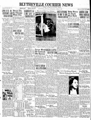 The Courier News from Blytheville, Arkansas on April 6, 1938 · Page 1