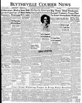 The Courier News from Blytheville, Arkansas on July 15, 1949 · Page 1