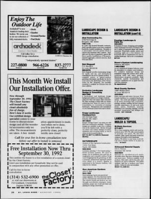 St Louis Post Dispatch From St Louis Missouri On August 5 1992