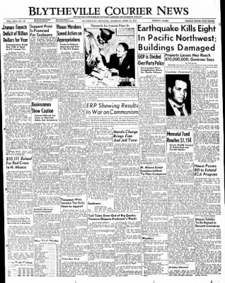 The Courier News from Blytheville, Arkansas on April 14, 1949 · Page 1