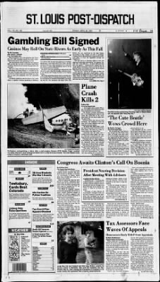 St. Louis Post-Dispatch from St. Louis, Missouri on April 30, 1993 · Page 1