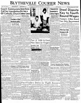 The Courier News from Blytheville, Arkansas on July 16, 1949 · Page 1