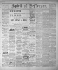 Sample Spirit Of Jefferson front page